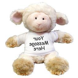 Personalized Stuffed Lamb - 12 inch Aurora Tubby Wubby Sheep