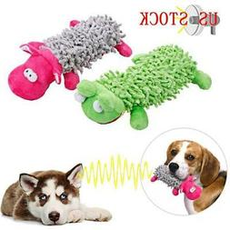 Pet Dog Cute Animals Shape Squeaking Stuffed Toys Interactiv