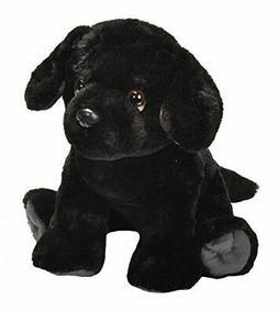 "Wild Republic Pet Shop Black Lab Dog Plush Toy 10"" High"