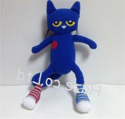 Pete The Cat Doll White Shoes Stuffed Animal Plush I Love My