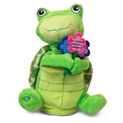 "The Petting Zoo Animated Stuffed Turtle, ""Wishing You a Spee"