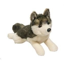 """Douglas Phoenix WOLF 13"""" Plush Lying Stuffed Animal NEW"""
