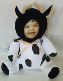 "Photo Cuddlers Photo Plush in 8"" COW Costumed Picture Frame"