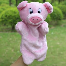 Pig Hand Puppet Plush Stuffed Toys Education Animal Bed Stor