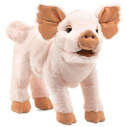Folkmanis Pig Piglet Hand Puppet Pale Pink Stuffed Animal 3y