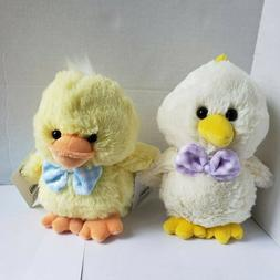 Pink Bunny & Chick Plush Stuffed Animals Set Of 2