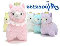 pink crown plush alpaca
