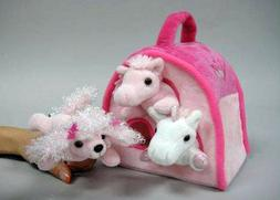 Unipak Pink House with Plush Animals Finger Puppets