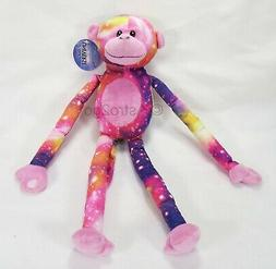 pink monkey plush stuffed animal universe galaxy