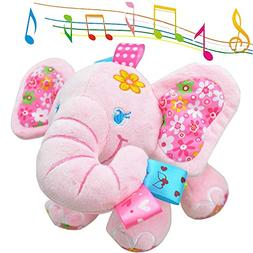 V Convey Music Bed Time Elephant Stuffed Animal Toys Kids To