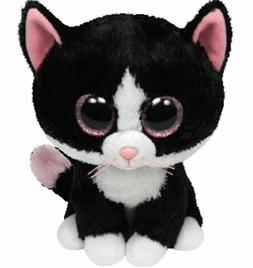 "Pinky Eye Cat 6"" Ty Beanie Boos Puppy Glitter Big Eyes Plush"