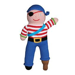 Zubels 100% Hand-Knit Arr-nee the Pirate Plush Doll Toy, 12-