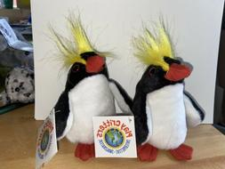 Play Critter Finger Puppets! 2 Macaroni Penguins! Plush stuf