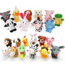 22 pcs Plush Animals Finger Puppet Toys - Mini Plush Figures