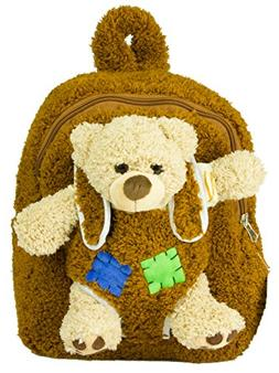 Plush Kid's Backpack with Ride-Along Teddy Bear & Soft Adj