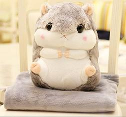 LAGHCAT Plush Blankets with Hamster Toy Pillow Stuffed Anima
