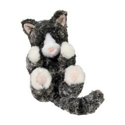 Plush BLK & WHT KITTEN LIL' HANDFUL Stuffed Animal - Douglas
