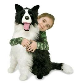 Plush Border Collie Stuffed Dog