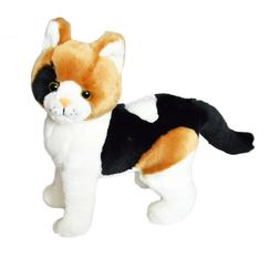 Kingdom Kuddles  Plush Calico Cat Pixel-Stuffed Animal for K