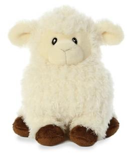 "Aurora Plush Chunky Lamb 9.5"" stuffed animal plush toy chunk"