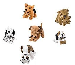 Plush Dog Stuffed Animals Holding Puppies