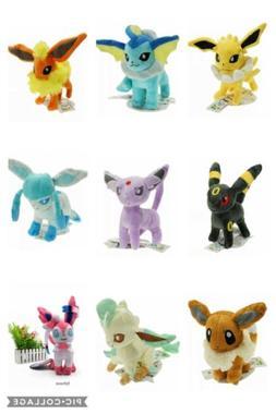 Pokemon Plush Eevee Evolution Characters Stuffed Animal Toys