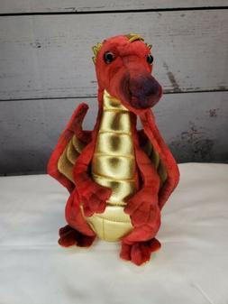 "Douglas Plush Eugene Red Dragon Stuffed Animal, 10"""