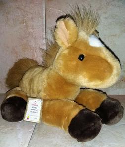 Aurora Plush FLopsies Beautiful Horse Brown Pony Adoption St