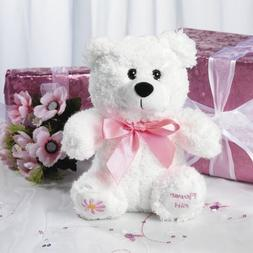 "Fun Express 8"" Plush Flower Girl Bear, Wedding Party Gift, F"