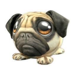 Plush Fur Ball Stuffed Animal Toy for Kids - Pug