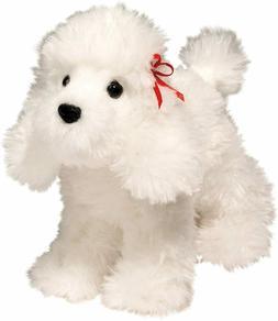"Douglas Plush Gina 7"" long White Poodle Stuffed Animal toy d"