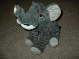 The Petting Zoo Plush Gray Elephant Kids Toy Stuffed Animal