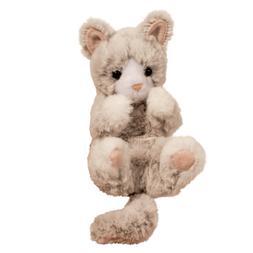 plush gray kitten lil handful stuffed animal