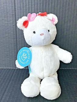 "The Manhattan Toy Company Plush Hearts Teddy Bear 9"" Cream"