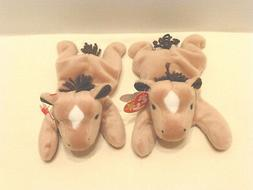 Plush Horse Derby Lot of 2 MINT NEW Tags 1995 stuffed animal