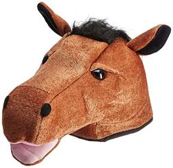 Plush Horse Head Hat Party Accessory