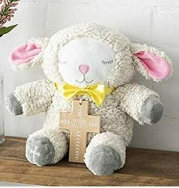 Hallmark Plush Lamb Stuffed Animal With Removable Wood Cross