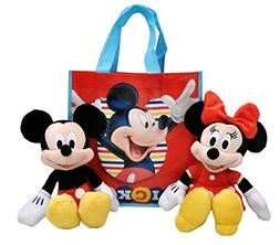 "Disney 11"" Plush Mickey & Minnie Mouse 2-Pack in Tote Bag"