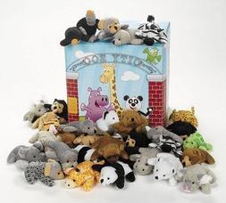 Fun Express Plush Mini Bean Bag Zoo Animal Assortment