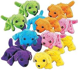 Fun Express Plush Neon Dogs | Assorted Colors