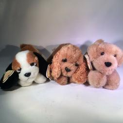 Plush Puppy Dogs Wee Puppies Aroura #02148 Lot of 3 Golden R