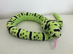 "54"" Plush Snake Stuffed Animal Toy, Yellow and Black, Wild R"