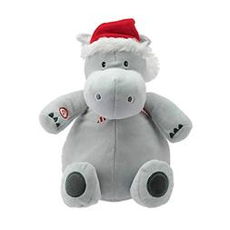 Hallmark Plush Stuffed Hippopotamus Sound, Christmas Themed