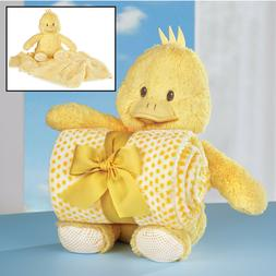 Plush Stuffed Yellow Baby Chick with Blanket Set Perfect for