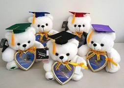 "9"" Graduation Plush Teddy Bear with Cap & Diploma Holding He"