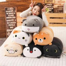 Plush Toy Pillow Stuffed Animal Cushion Doll Cat Dog Penguin