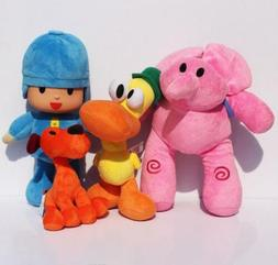 Pocoyo Plush Pocoyo Loula Elly Pato 4pcs Set Doll Stuffed An