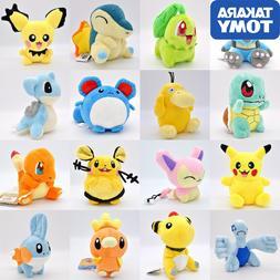 Takara Tomy Pokemon Pikachu Eevee plush toys Jigglypuff Char