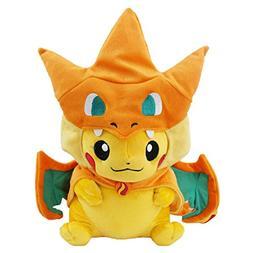 "Pokemon Pikazard Pikachu Stuffed Animal Doll Plush Toys 10"""