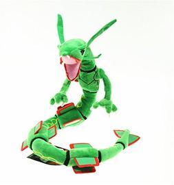 pokemon rayquaza plush doll green